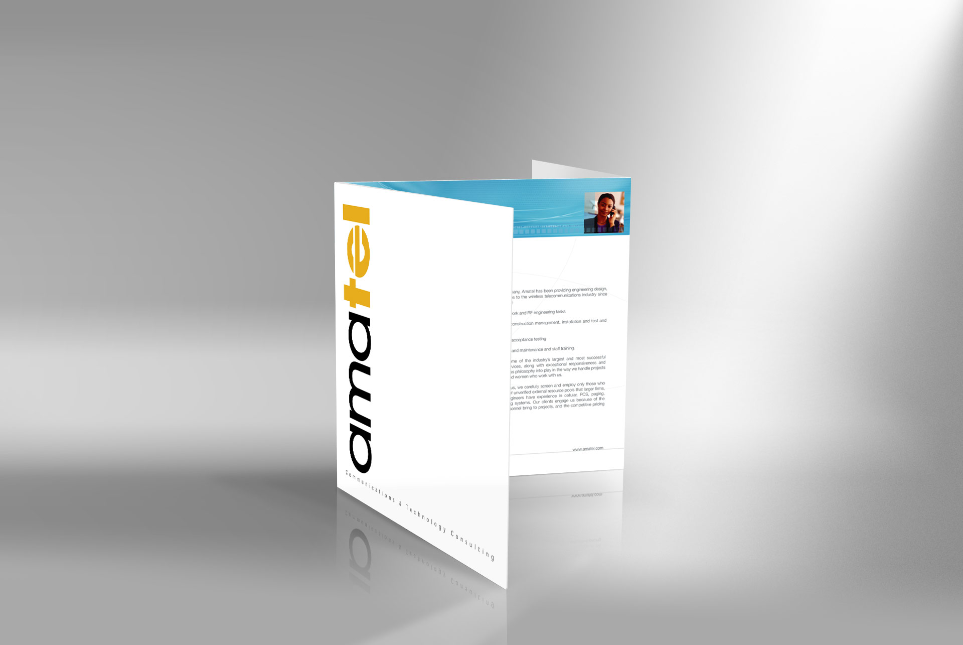 communication brochure designer