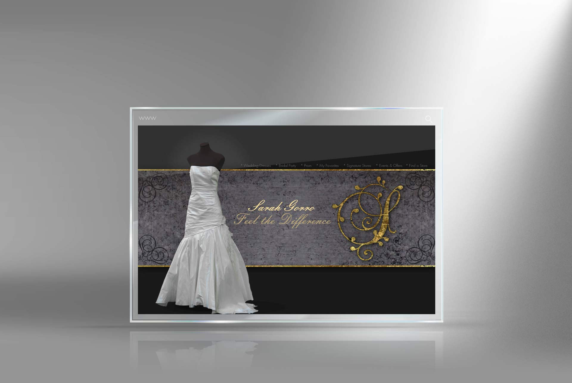 wedding fation website designer