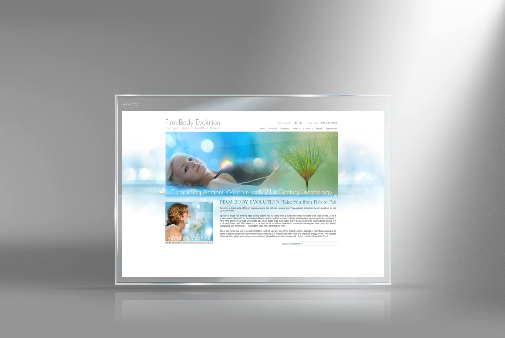health club website designer